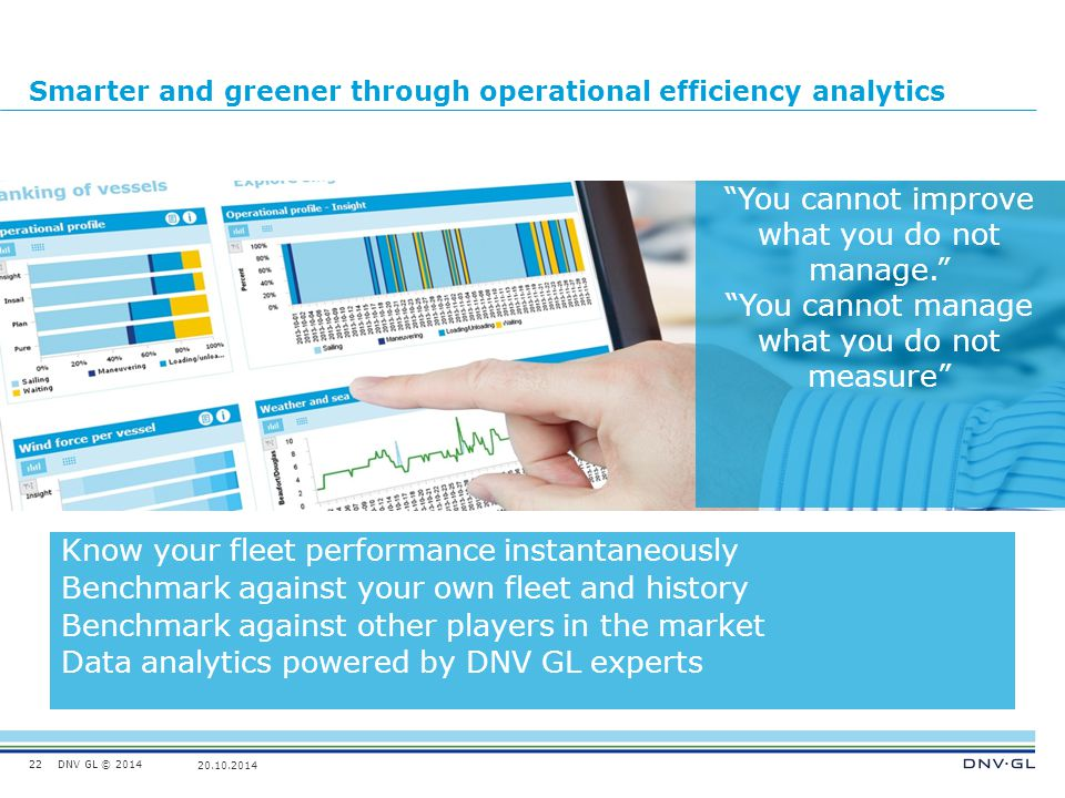 Smarter and greener through operational efficiency analytics