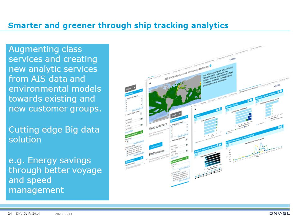 Smarter and greener through ship tracking analytics