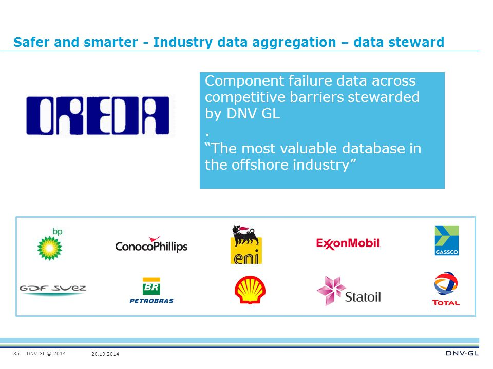 Safer and smarter - Industry data aggregation – data steward