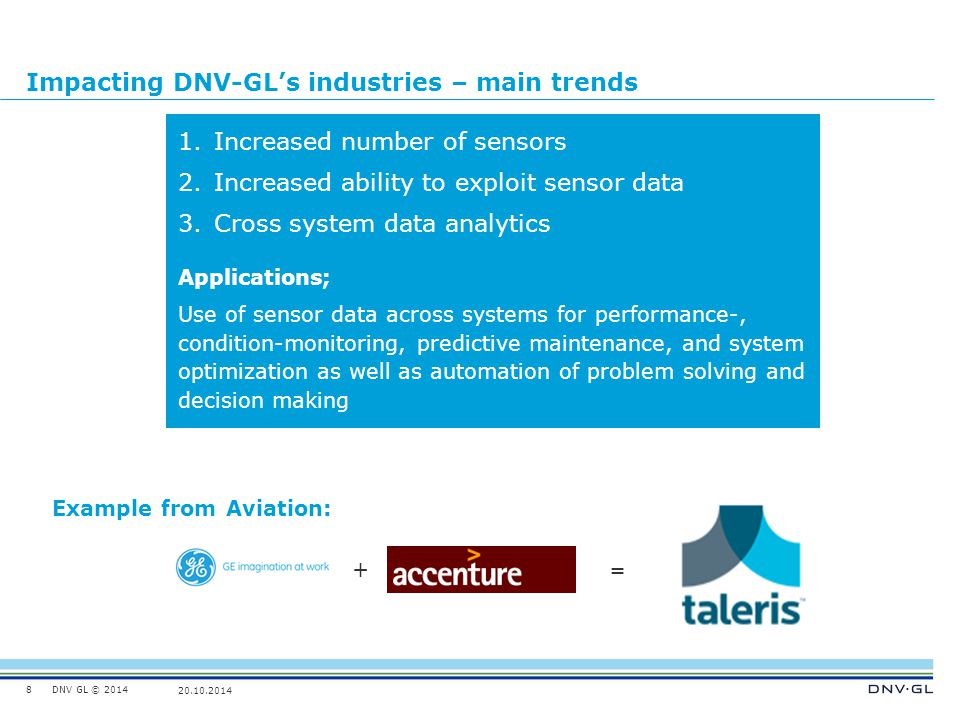 Impacting DNV-GL's industries – main trends