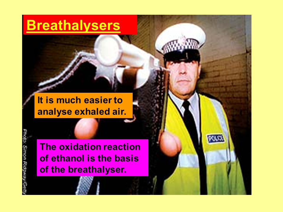 Breathalysers It is much easier to analyse exhaled air.