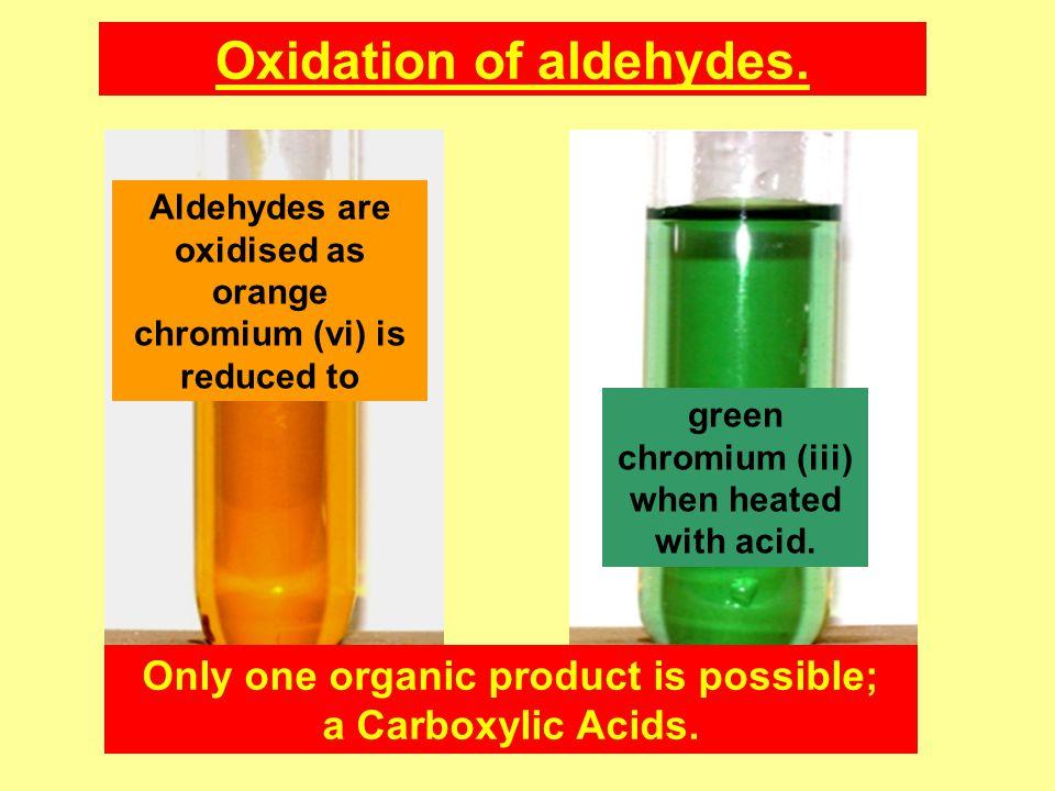 Oxidation of aldehydes.