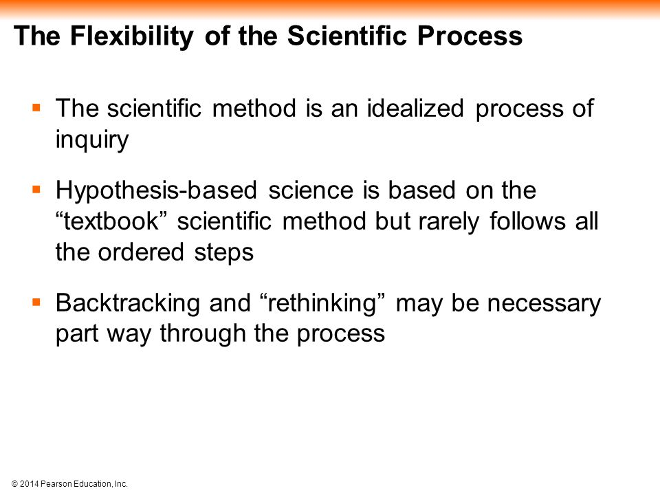 The Flexibility of the Scientific Process