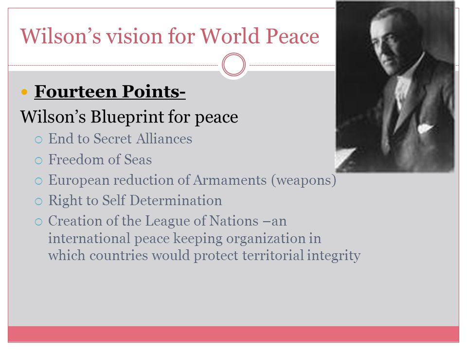 Wilson's vision for World Peace