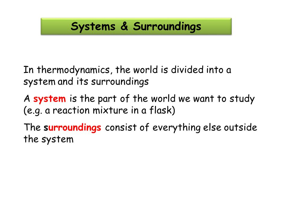 Systems & Surroundings