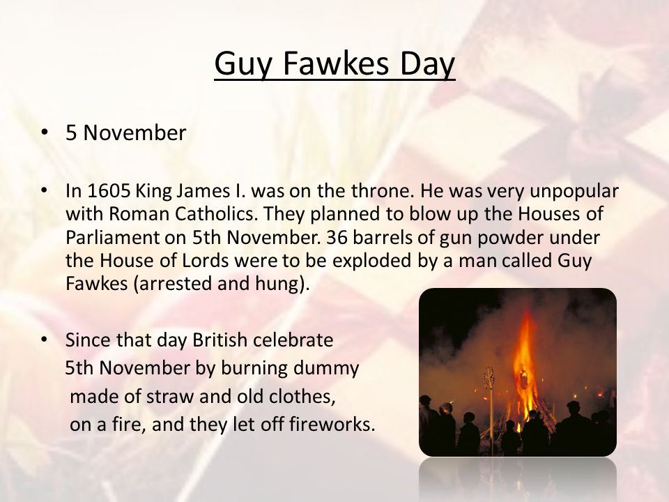 Guy Fawkes Day 5 November