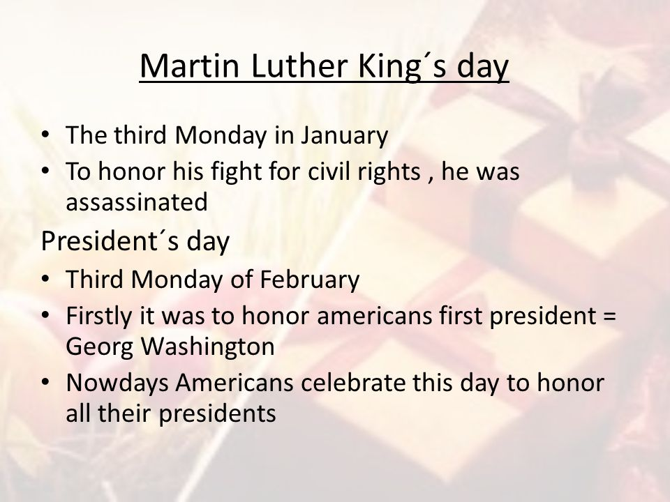 Martin Luther King´s day