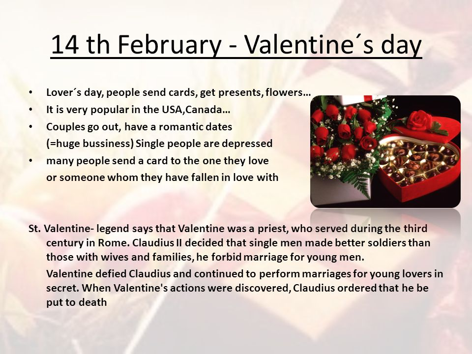 14 th February - Valentine´s day