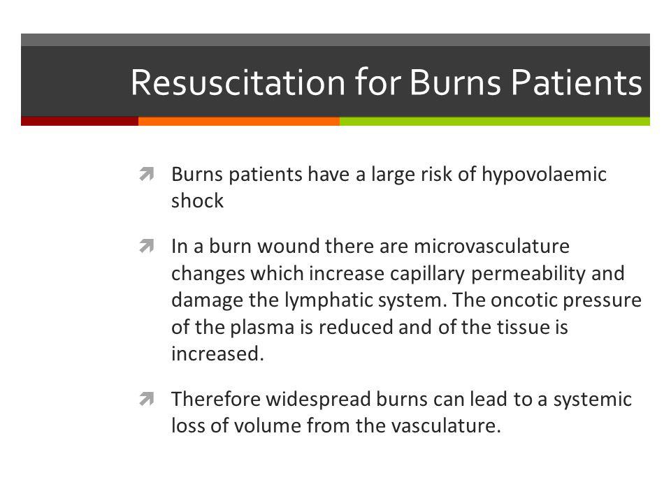 Resuscitation for Burns Patients