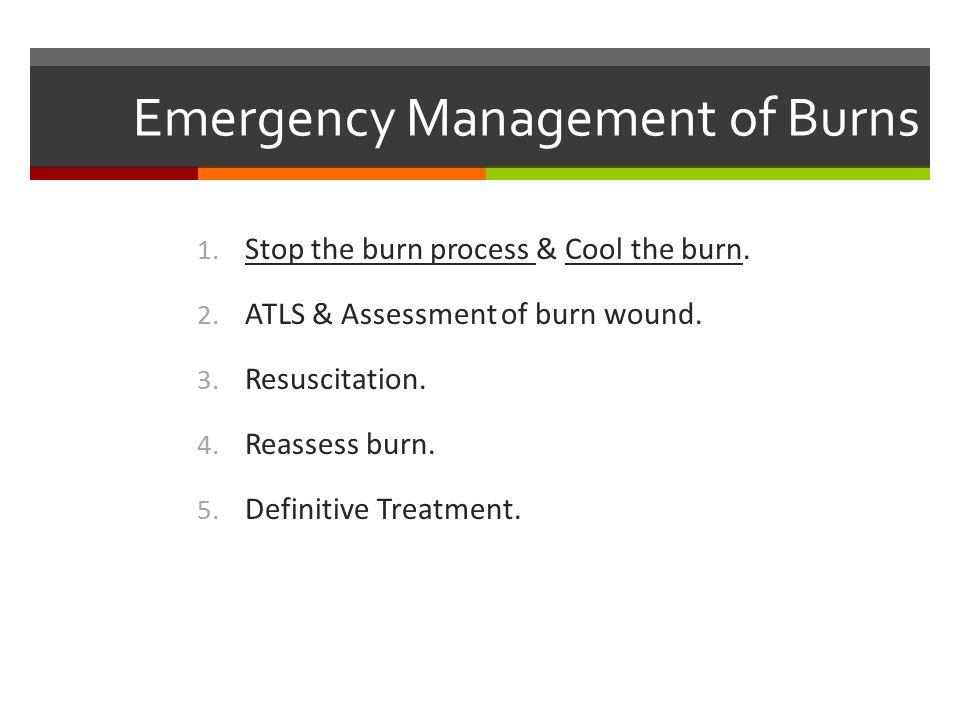 Emergency Management of Burns