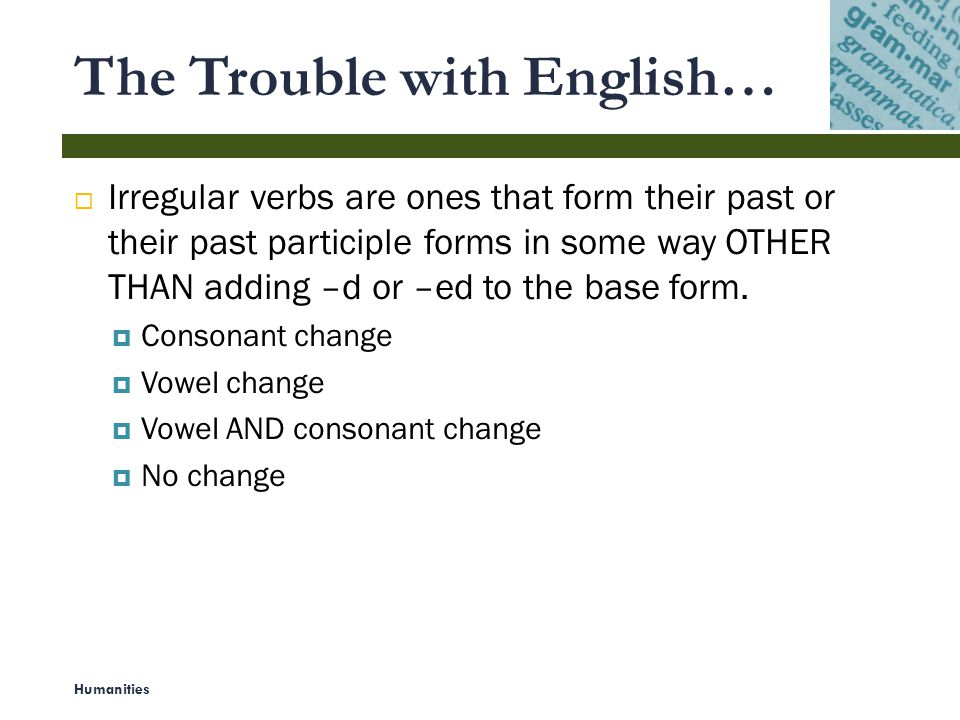 The Trouble with English…