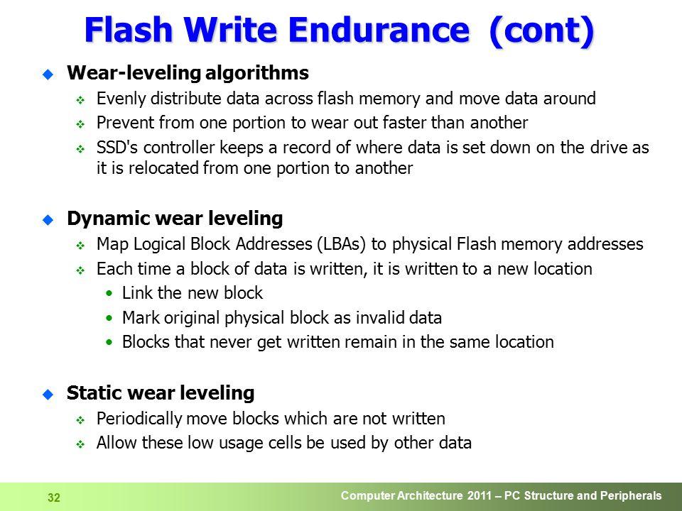 Flash Write Endurance (cont)