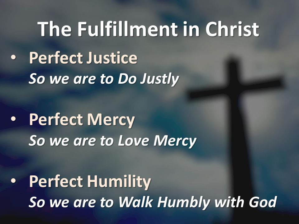The Fulfillment in Christ