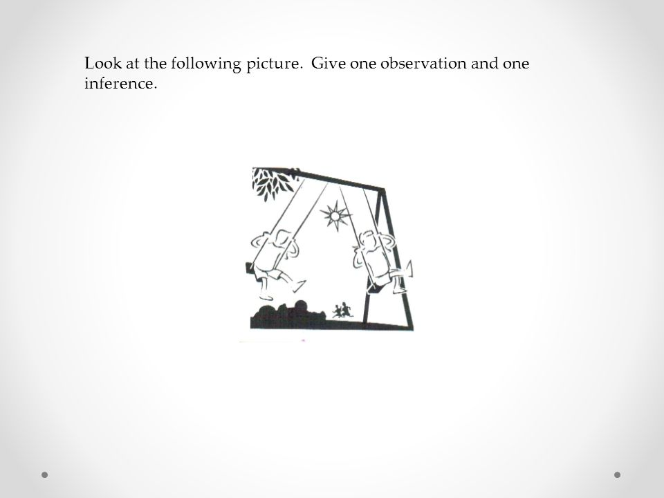 Look at the following picture. Give one observation and one inference.