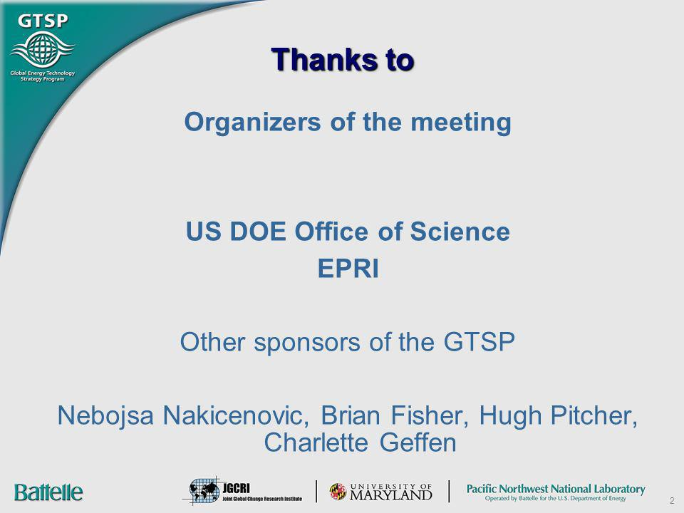 Organizers of the meeting US DOE Office of Science