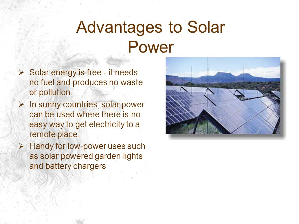 Advantages to Solar Power