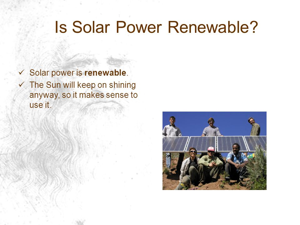Is Solar Power Renewable