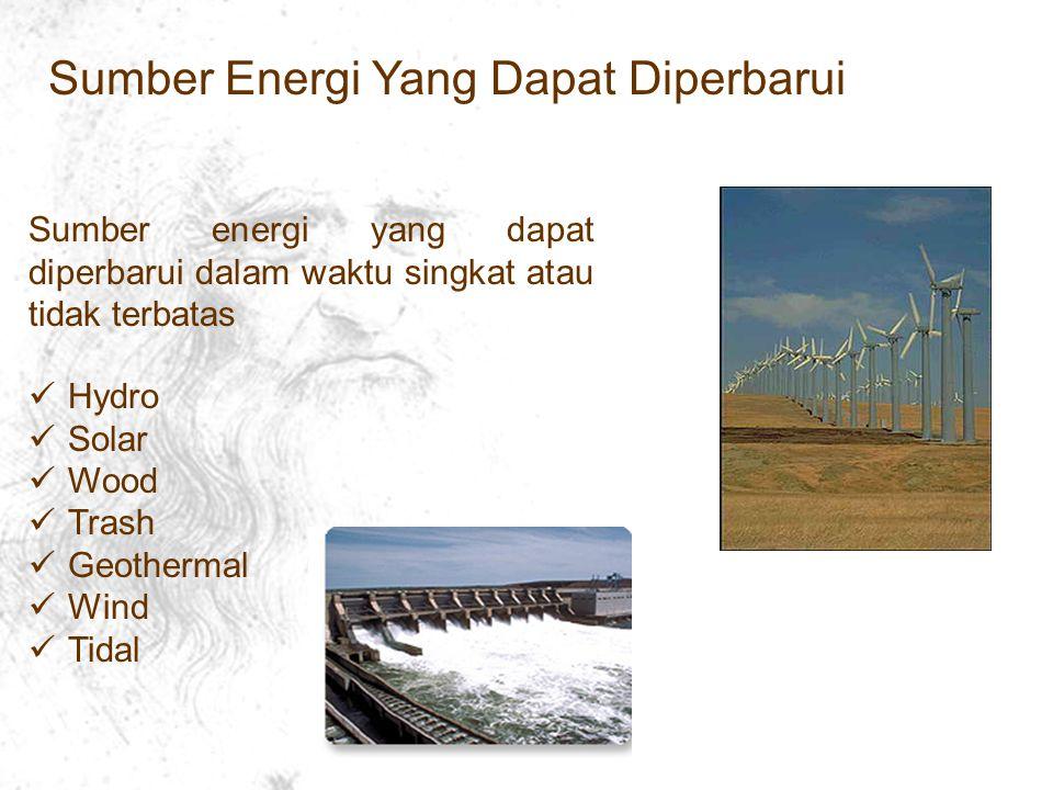 Sumber Energi Yang Dapat Diperbarui
