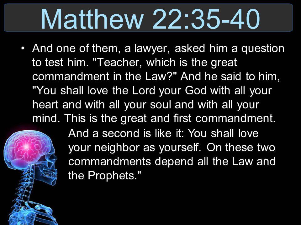 Matthew 22:35-40