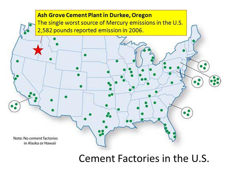Cement Factories in the U.S.