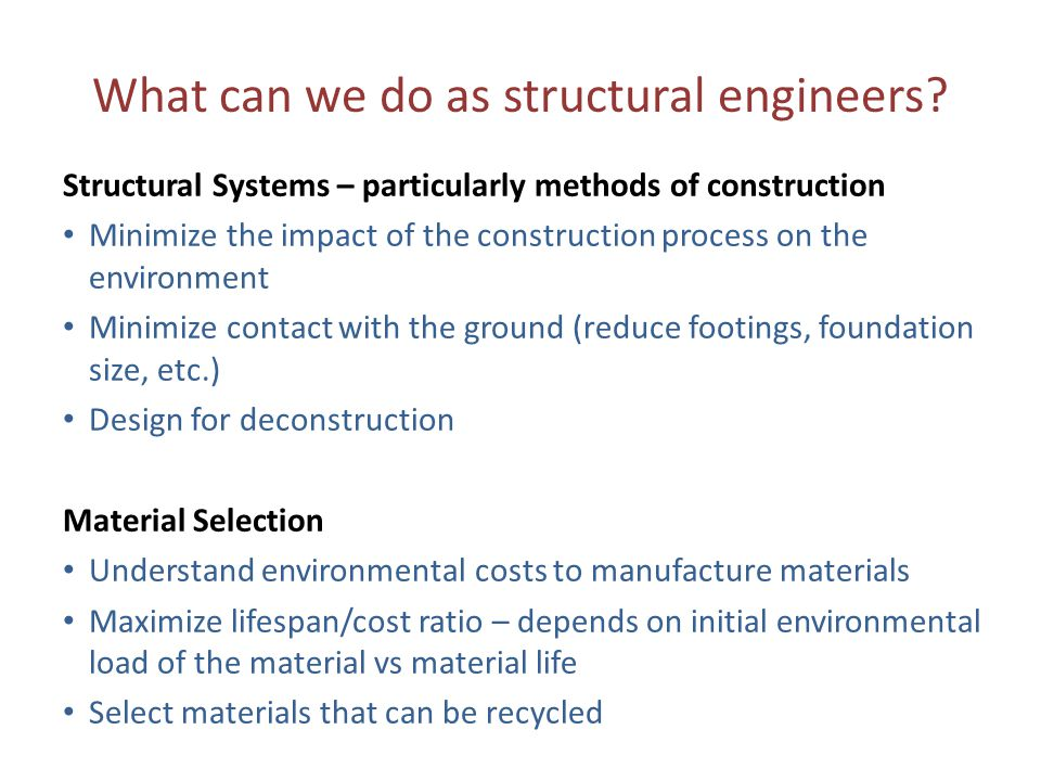What can we do as structural engineers