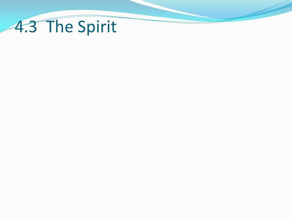 4.3 The Spirit