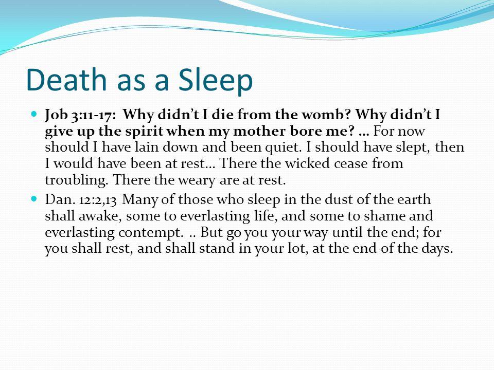 Death as a Sleep