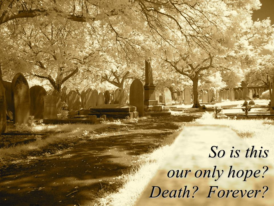 . So is this our only hope Death Forever