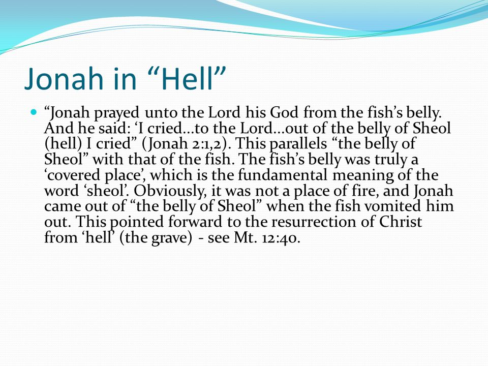 Jonah in Hell