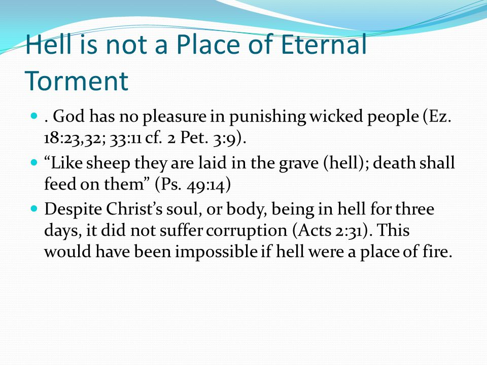 Hell is not a Place of Eternal Torment