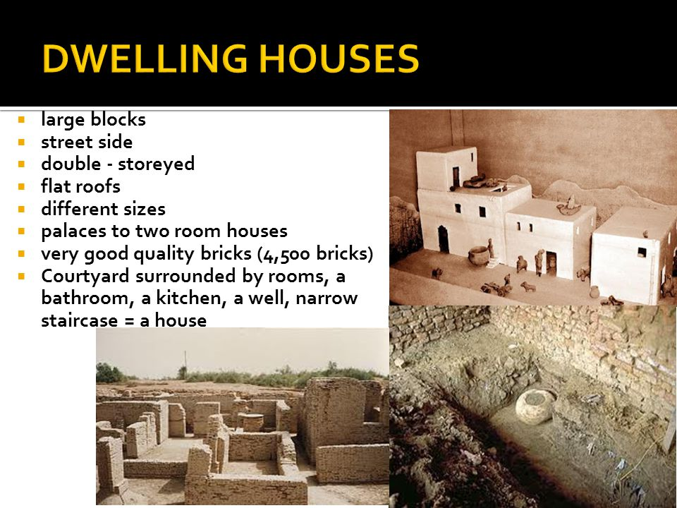 DWELLING HOUSES large blocks street side double - storeyed flat roofs