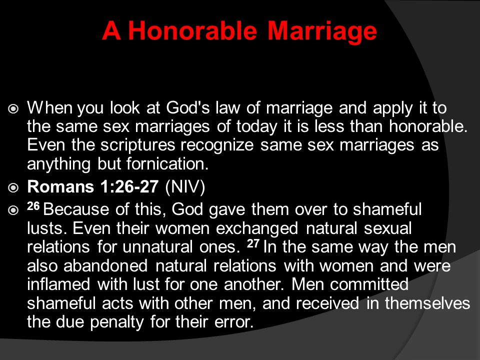 A Honorable Marriage