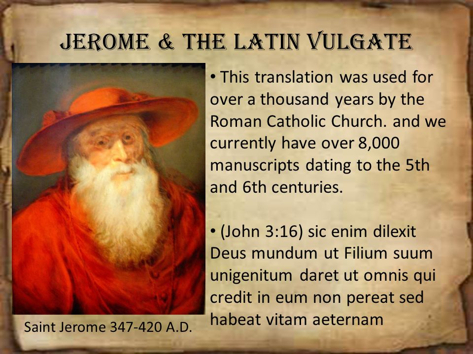 Jerome & The Latin Vulgate