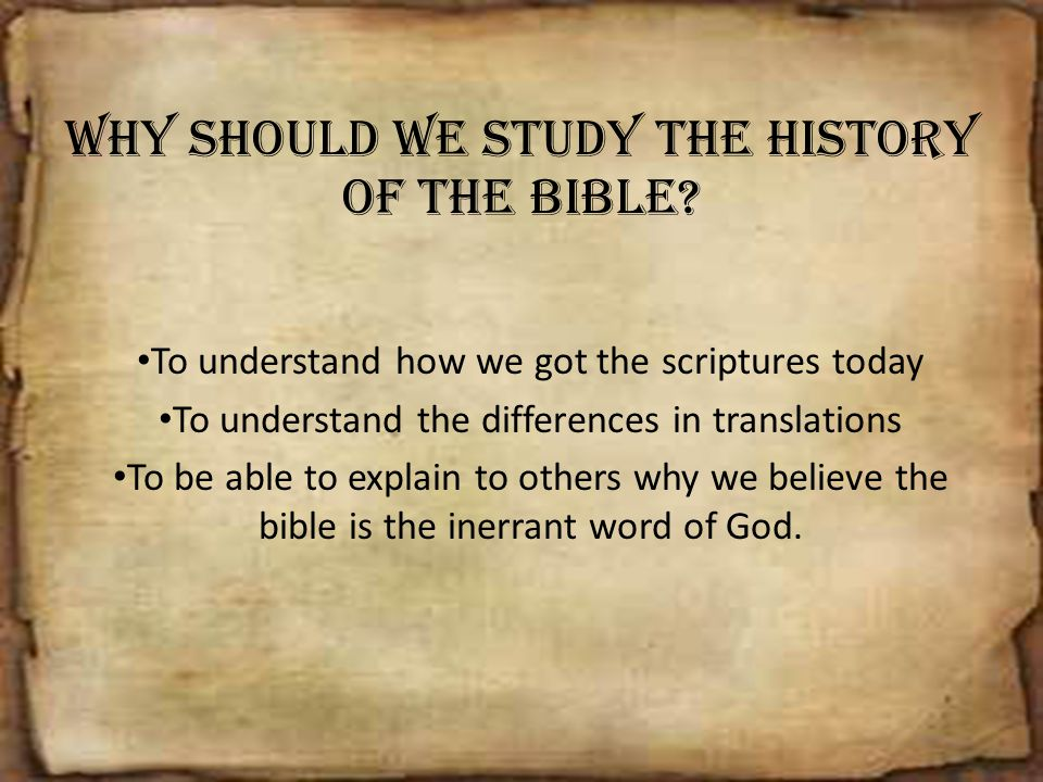 why should we study history This is the first reason why christians need to study history, so that we can become better skilled to answer the nagging questions that either critics ask or that we ourselves are wrestling with why should we study church history.