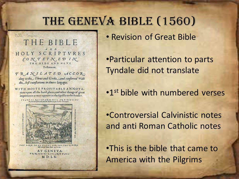 The Geneva Bible (1560) Revision of Great Bible