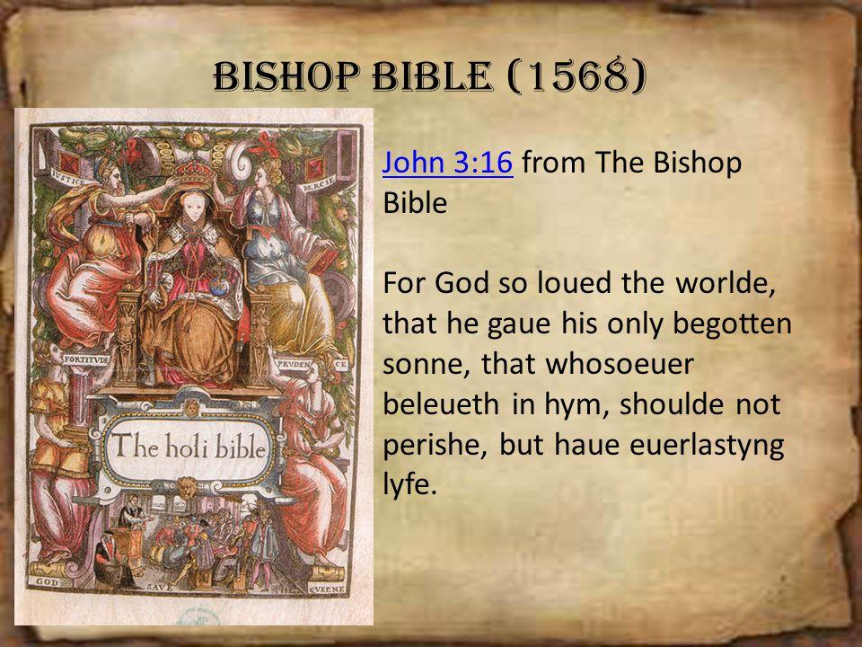 Bishop Bible (1568) John 3:16 from The Bishop Bible