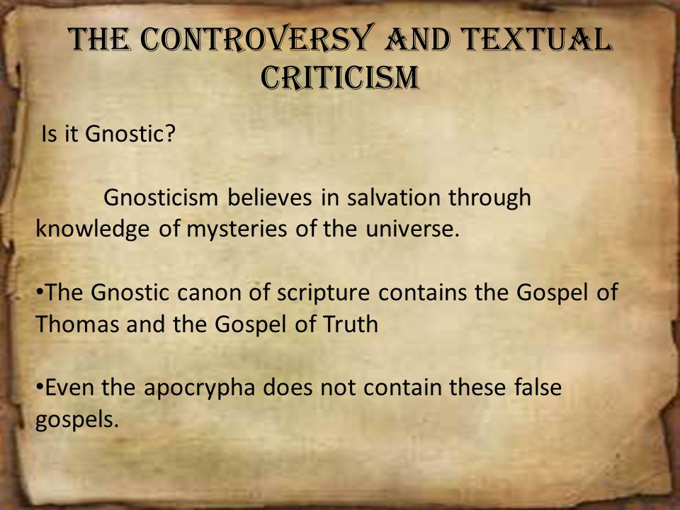 The Controversy and Textual Criticism