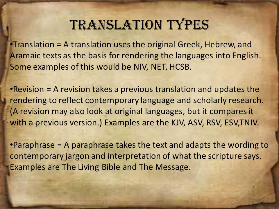 Translation Types