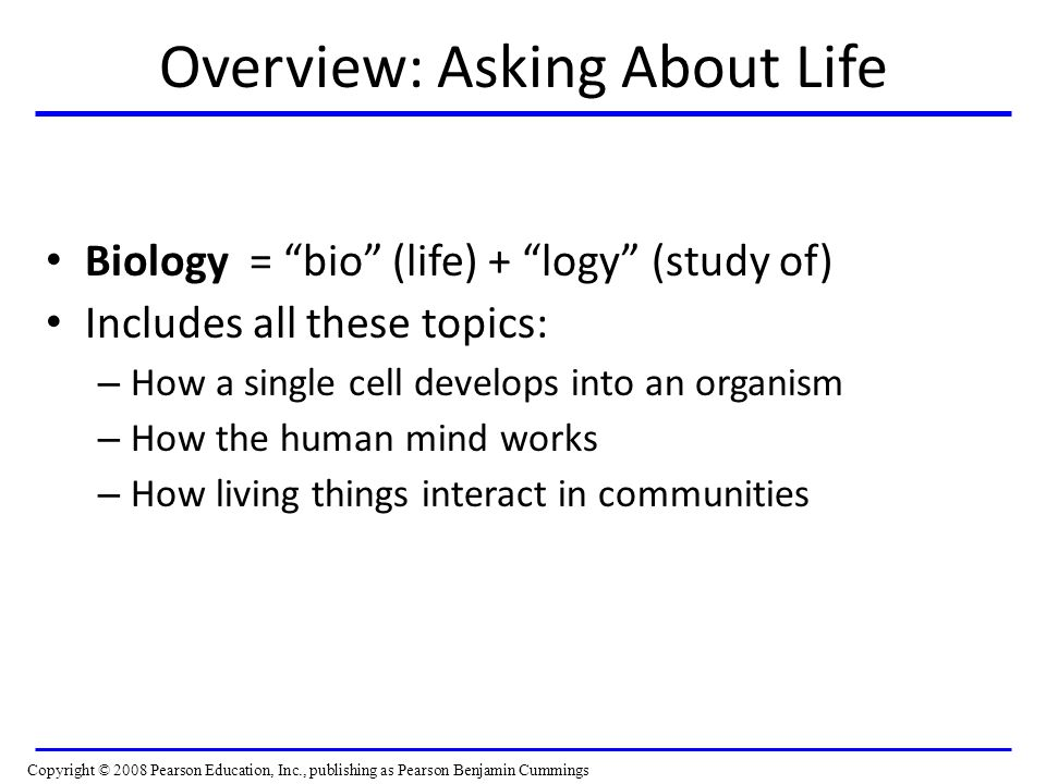 Overview: Asking About Life