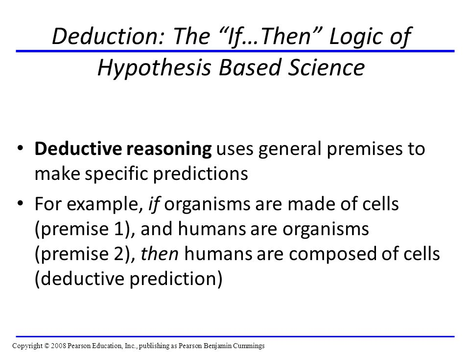 Deduction: The If…Then Logic of Hypothesis Based Science