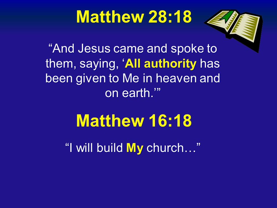 I will build My church…