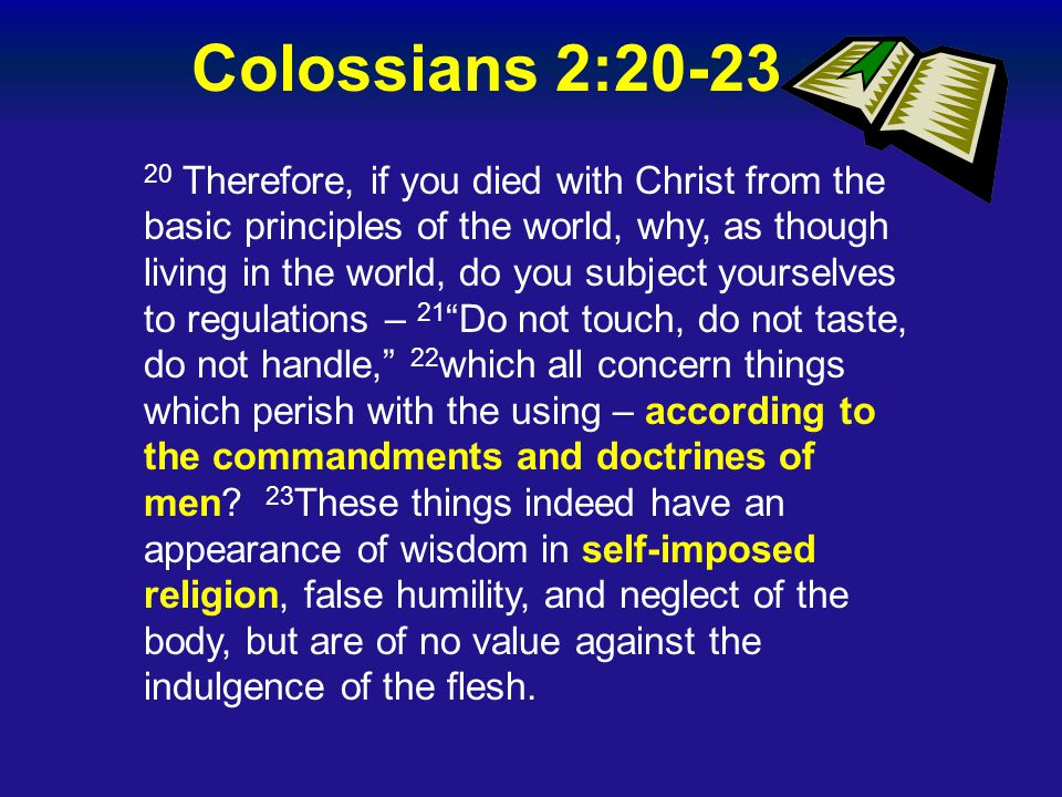 Colossians 2:20-23