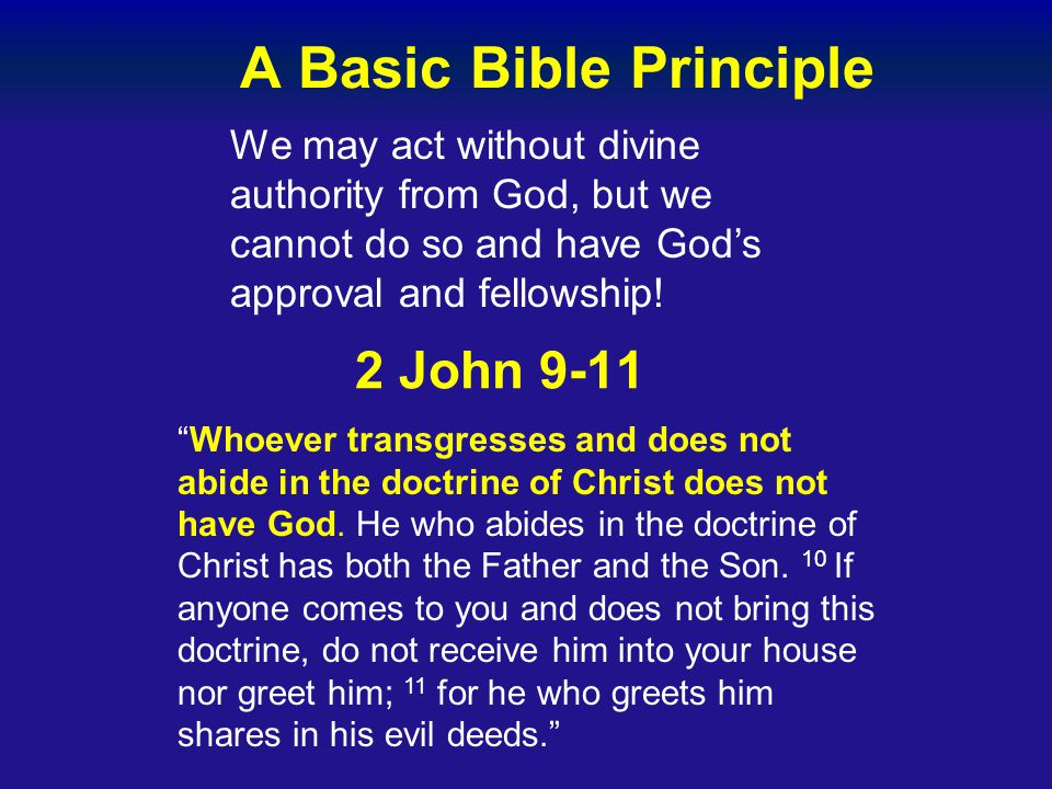 A Basic Bible Principle