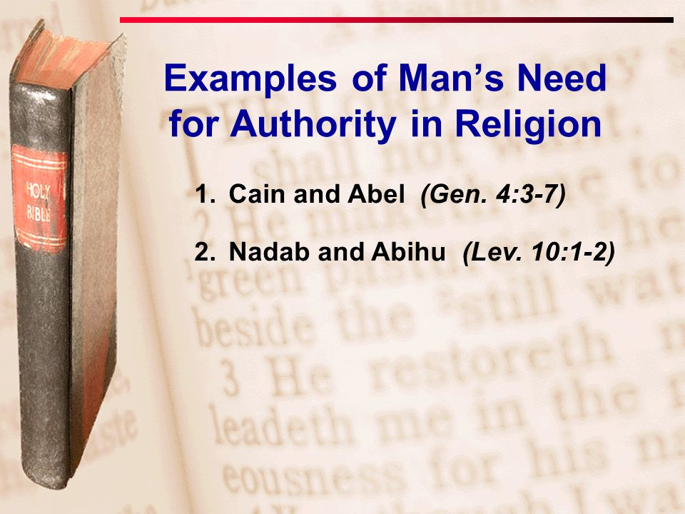 Examples of Man's Need for Authority in Religion