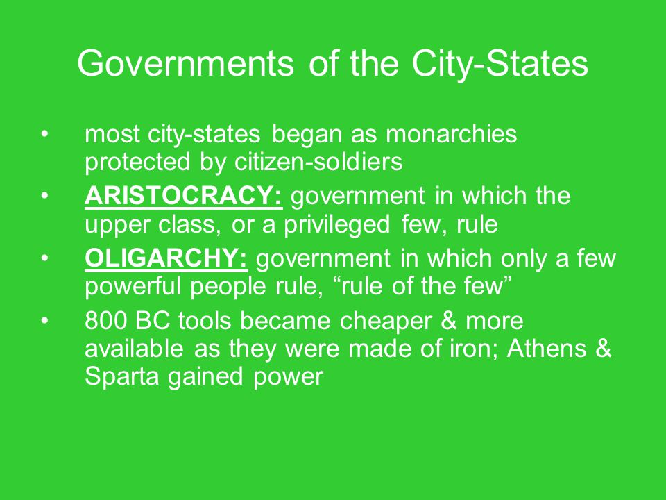 Governments of the City-States