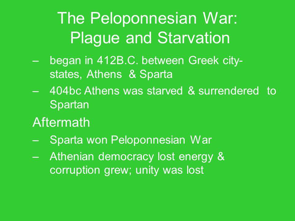 The Peloponnesian War: Plague and Starvation