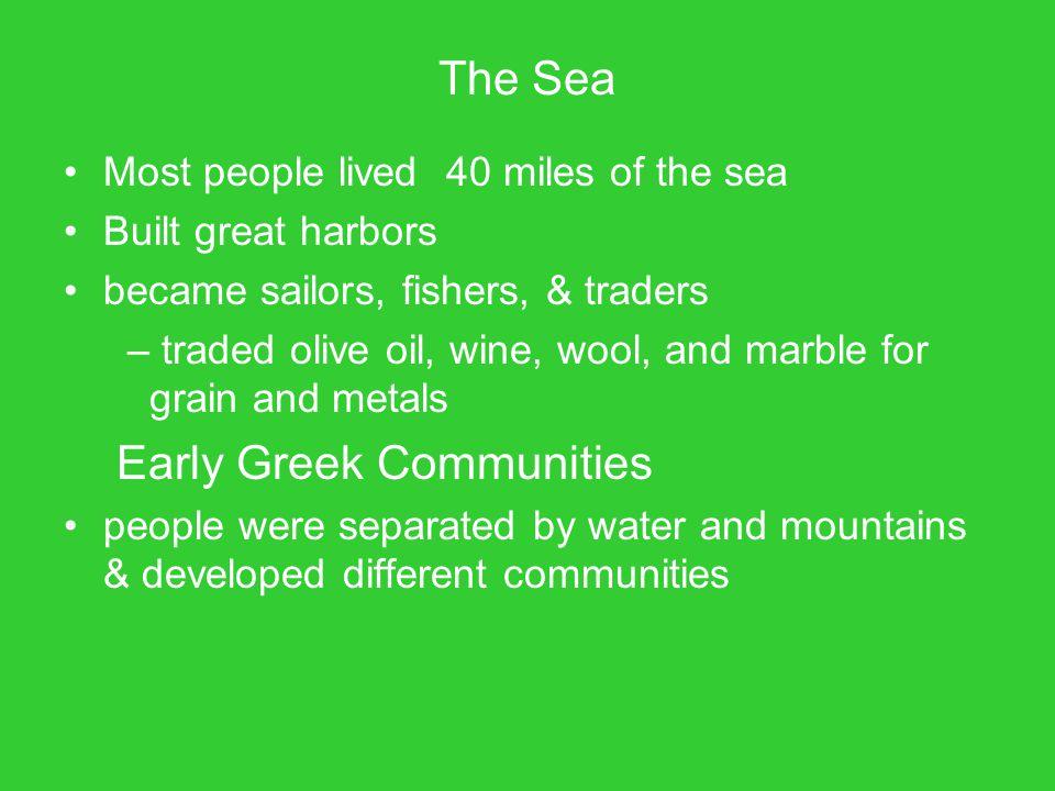 Early Greek Communities