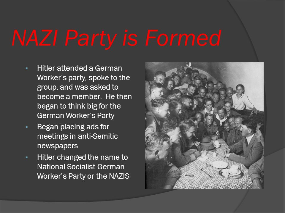 NAZI Party is Formed