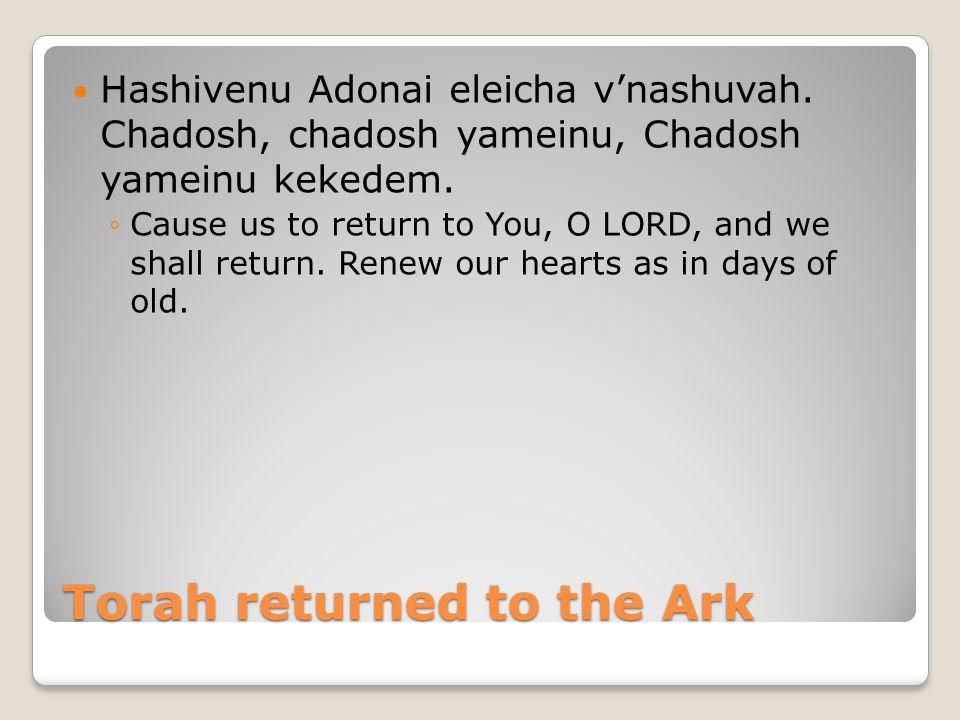 Torah returned to the Ark