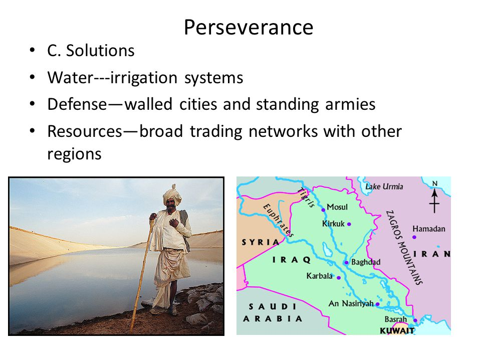 Perseverance C. Solutions Water---irrigation systems